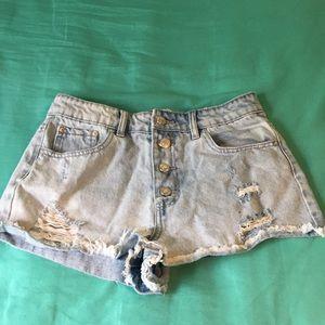 High waisted cutoff shorts